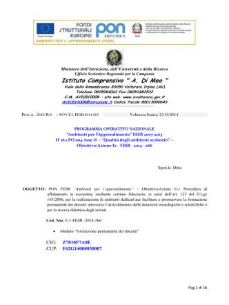 Bando Fesr E1266-1 - Istituto Comprensivo