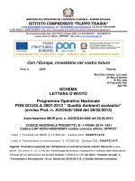 Schema Lettera Invito E-1-FESR-2014-1421