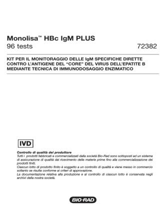 72382MonolisaHBcIgM PLUS - Bio-Rad