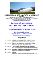Informazioni orticoltura no. 04/2014