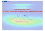 da Galileo Galilei ai sensori quantistici con atomi ultrafreddi