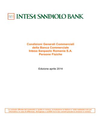 Condizioni Generali Commerciali della Banca Commerciale Intesa
