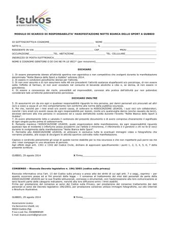 Associazione Leukos Via Beniamino Ubaldi, snc 06024 Gubbio (Pg