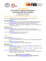 From olefins to oligom the fundamental ro NIS Colloquium From
