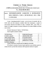 COMUNE DI TORRE ORSAIA N.ro 20 del 08-09-2014