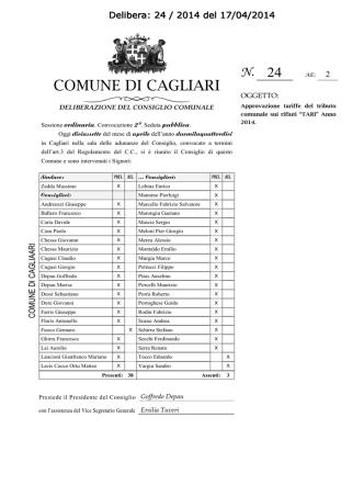 Delibera Consiglio 24/2014