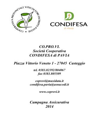 CO.PRO.VI. Società Cooperativa CONDIFESA di PAVIA Piazza