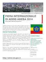 FIERA INTERNAZIONALE DI ADDIS ABEBA 2014