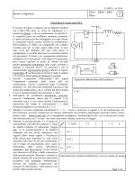 Oscillatore smorzato RLC VC r VC C L