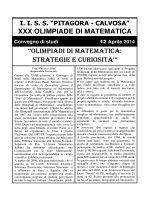 xx olimpiade di matematica xxx olimpiade di