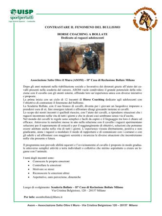 Cavalli in carcere a Bollate, una seconda opportunità per