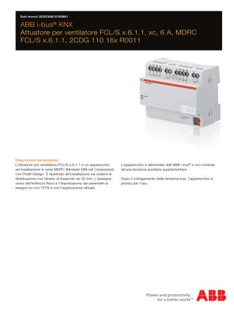 ABB i-bus® KNX Attuatore per ventilatore FCL/S x.6.1.1, xc, 6 A
