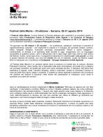 Festival della Mente – XI edizione – Sarzana, 29