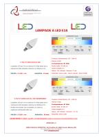 LAMPADE A LED E14