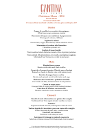 Christmas Menu – 2014 Starter Main Dessert