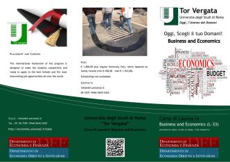 Brochure - Facoltà di Economia - Università degli Studi di Roma Tor