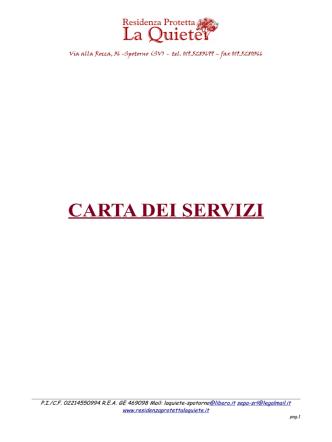 Carta dei Servizi (Pdf File)