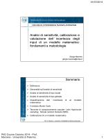 Analisi di sensitività, sensitività, calibrazione calibrazione e