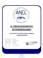 """"""" IL PROFESSIONISTA INTERMEDIARIO: NUOVI DIRITTI TRA"""