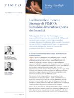 La Diversified Income Strategy di PIMCO: Rimanere diversificati