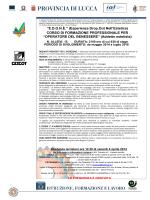 Scarica la locandina - CE.S.CO.T. Toscana Nord