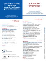 Comunità e conflitti nelle Alpi tra tardo medioevo e - ISIG
