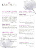SIGNATURE TREATMENTS** COUPLES INDULGENCE**