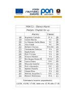 PON C1 - Elenco Alunni Modulo: English for us Alunno Classe 18
