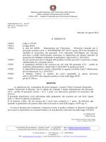 Messina, 26 agosto 2014 IL DIRIGENTE VISTO il dlg.vo 297/94
