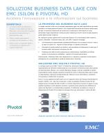 soluzioni business data lake con emc isilon e pivotal hd