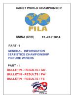 CADET WORLD CHAMPIONSHIP SNINA (SVK) 15.-20.7