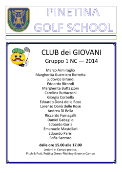 Gruppo 1 NC — 2014 - La Pinetina Golf Club
