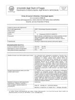 Programma - Università degli Studi di Foggia