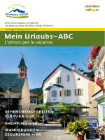 Mein Urlaubs–ABC - Gitschberg Jochtal