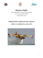 Programma Operativo AIB 2014 - Protezione Civile