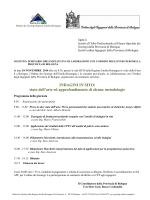 Programma - Ordine dei Geologi Regione Emilia