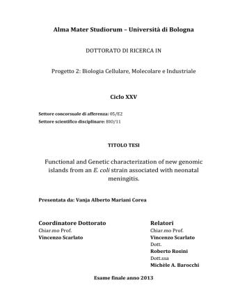Alma Mater Studiorum – Università di Bologna Functional and
