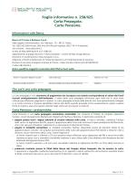 Foglio informativo n. 258/025. Carta Prepagata. Carta Pensione.