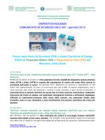 comunicato sicurezza gennaio 2014