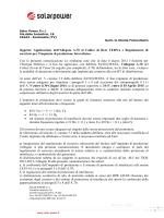 comunicazione a70 - adeguamenti fotovoltaico aeeg