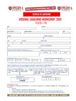ACW15 - SCHEDA ADESIONE - Arsenal Soccer School Italia