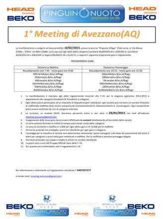 1° Meeting di Avezzano(AQ)
