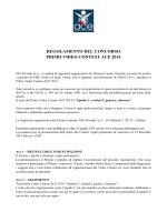 REGOLAMENTO DEL CONCORSO PRIMO VIDEO CONTEST ACE