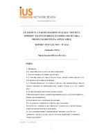 Maria Grazia Della Scala, Le società a - ius