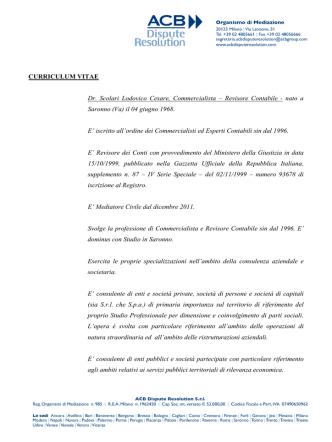 Curriculum Vitae - ACB Dispute Resolution