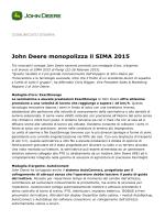 John Deere monopolizza il SIMA 2015