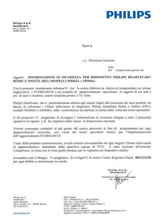 avvsicphilips - Ministero della Salute