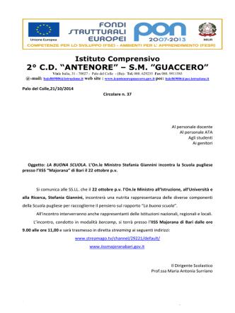 """2° C.D. """"ANTENORE"""" – S.M. """"GUACCERO"""""""