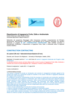 "progetto ID 397: ""CONSTRUCTION CONTRACTING"""