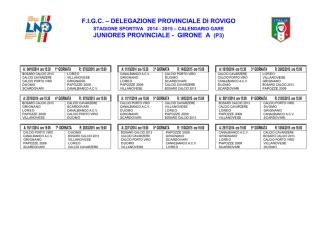 Calendario-Juniores 2014-15